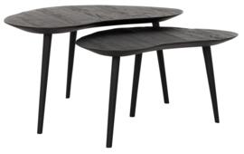 HI 301181 | Salontafels Organus zwart - set van 2  | DTP Home