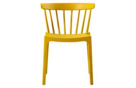 378634-O | Set van 2 - Bliss spijlenstoel kunststof oker geel | WOOOD