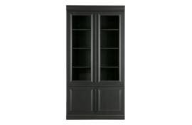 800278-Z | Organize vitrinekast 44cm grenen matzwart [fsc] | BePureHome