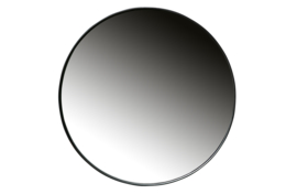 373357-Z | Doutzen spiegel metaal - zwart Ø80cm | WOOOD