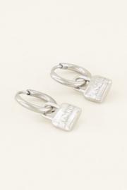 Oorringen love lock - zilver | My Jewellery