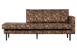 800746-U   Rodeo daybed right velvet bouquet chestnut   BePureHome