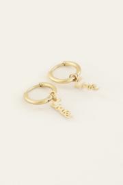 Oorringen love - goud | My Jewellery