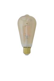 9900416   LED hoekig Ø6,5x14,5 cm LIGHT 4W amber E27 dimbaar   Light & Living