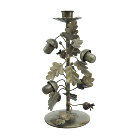 704536 | Nilo Brass old iron candle holder forest deco L | PTMD - Verwacht vanaf week 43!