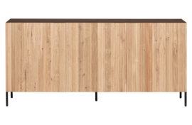 373383-B-N | Gravure dressoir korpus bruin en deuren naturel [fsc] | WOOOD Exclusive