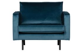 800541-45 | Rodeo fauteuil velvet blue | BePureHome