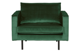 800541-162 | Rodeo fauteuil velvet green forest | BePureHome