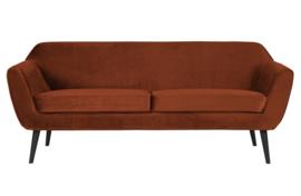 340451-126 | Rocco sofa 187 cm fluweel roest | WOOOD