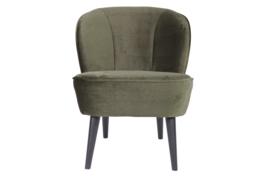 375690-156 | Sara fauteuil - fluweel warm groen | WOOOD