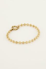 Armband bolletjes met ronde sluiting - goud/zilver | My Jewellery