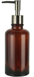 0343-14 | Soap dispenser brown glass | Ib Laursen