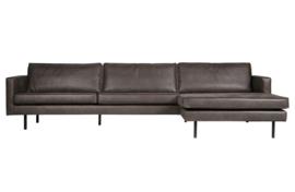 800902-Z | rodeo chaise longue rechts zwart | BePureHome