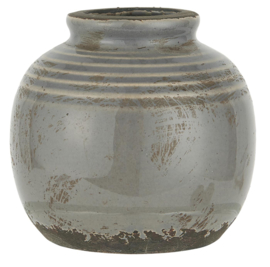 1352-18 | Vase mini w/grooves crackled surface | IB Laursen
