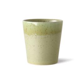 ACE7005 | 70s ceramics: coffee mug, pistachio | HKliving - Eind juli verwacht!