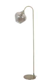 1851565 | Vloerlamp 28x45x160 cm RAKEL antiek brons+smoke | Light & Living