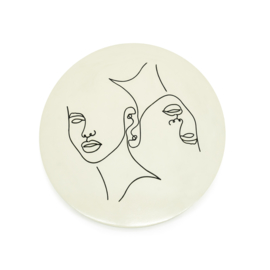 210102 | Abstract small Ø45 cm - beige | By-Boo