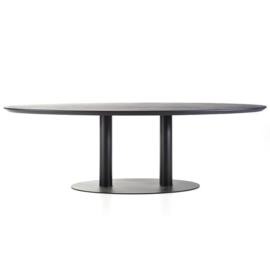 24017 | Eettafel ovaal - 300x120 zwart | Eleonora