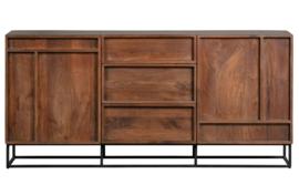 377161-N | Forrest 2-deurs dressoir met lades mango hout naturel | WOOOD Exclusive