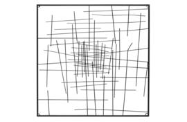 377201-Z   Fidde wanddeco metaal zwart   WOOOD Exclusive
