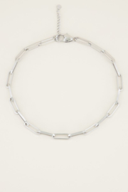 Ketting schakels kort - zilver | My Jewellery