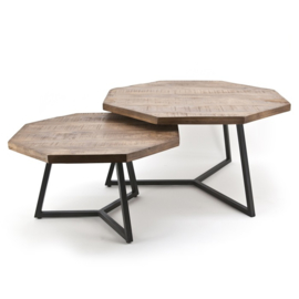 1637 | Coffeetable set Octagon | By-Boo