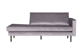 800746-149 | Rodeo daybed right velvet lichtgrijs | BePureHome