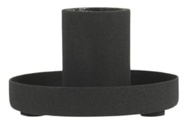 1671-24 | Candle holder f/dinner candle S - black | Ib Laursen