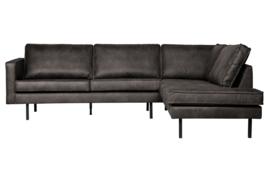800971-Z | Rodeo hoekbank rechts zwart | BePurehome