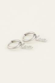 Oorringen love - goud/zilver | My Jewellery
