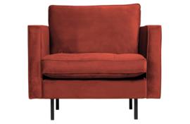 800888-205   Rodeo classic fauteuil velvet chestnut   BePureHome