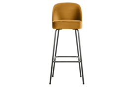 800293-910 | Vogue barstoel 80cm fluweel mosterd | BePureHome