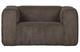 377316-RM | Bean fauteuil grove ribstof mud | WOOOD Exclusive