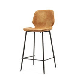 0898 | Bar chair Seashell high - cognac | By-Boo