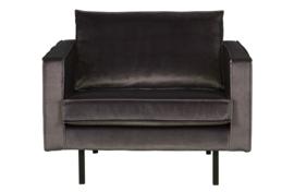 800541-79 | Rodeo fauteuil velvet antraciet | BePureHome