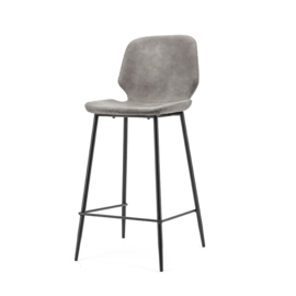 0895   Bar chair Seashell low - grey   By-Boo