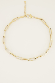 Ketting schakels kort - goud | My Jewellery