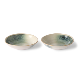 ACE6955 | Ceramic 70's curry bowls: mist (set of 2) | HKliving - Verwacht in november!