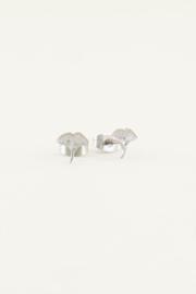 Studs met blaadje - goud/zilver | My Jewellery