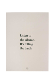 A4 poster listen to the silence - zand | Zusss