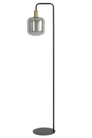1861884 | Vloerlamp Ø28x155 cm LEKAR antiek brons+smoke glas | Light & Living