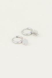 Oorringen met klavertje - goud/zilver | My Jewellery