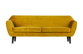 340451-O | Rocco sofa fluweel oker 187cm | WOOOD