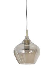 2937427 | Hanglamp Ø20x21,5 cm RAKEL antiek brons+smoke | Light & Living
