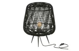 373292-Z | Moza tafellamp bamboe zwart | WOOOD Exclusive - Verwacht op 12-06!