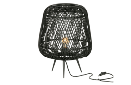373292-Z | Moza tafellamp bamboe zwart | WOOOD Exclusive