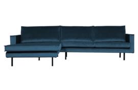 800905-45 | Rodeo chaise longue links velvet blue | BePureHome