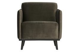 378670-156 | Statement fauteuil met arm - fluweel warm groen | BePureHome