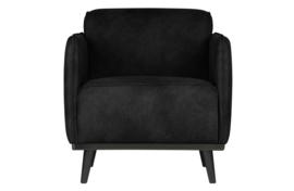 378670-17 | Statement fauteuil met arm - suedine zwart | BePureHome