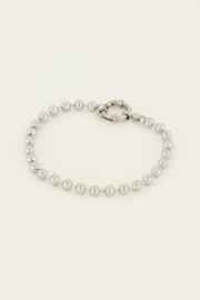 Armband bolletjes met ronde sluiting - zilver | My Jewellery